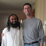 His Holiness Sri Sri Ravi Shankar and Electric Sky host, Mark Blevis
